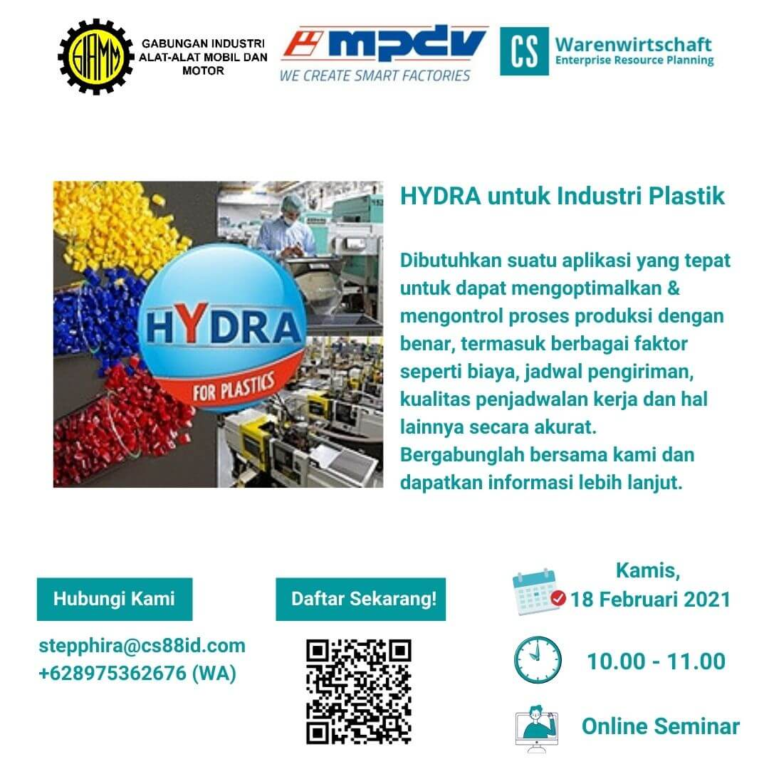 Smart Factory Webinar Series (Topic : HYDRA for Plastics)